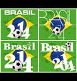 Brasil 2014 football championship vector image vector image