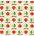 Seamless pattern with apples and pomegranates vector image