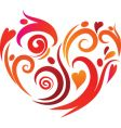 artistic heart vector image