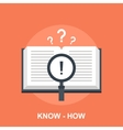 Know-How vector image