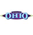 Ohio The Buckeye State vector image