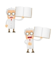 scientist with books vector image vector image