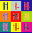 adjustment music line sign pop-art style vector image