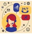 Call center telemarketing woman operator vector image