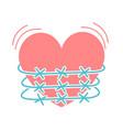 concept of heartache vector image