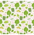 hand drawn spinach seamless pattern vector image