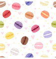 macarons tasty cake set different colors macaroon vector image