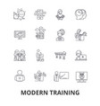modern training business learning online course vector image