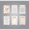Printable Journaling Cards with Rooster vector image