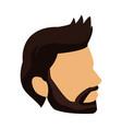 profile young man head icon vector image
