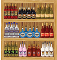 Shop alcoholic beverages vector image