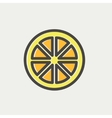 Sliced of lemon thin line icon vector image
