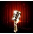 Vintage Microphone vector image