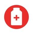 bottle drug isolated icon vector image
