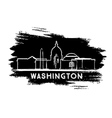 Washington DC Skyline Silhouette Hand Drawn Sketch vector image