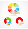 brush colorful spectrum icon vector image vector image