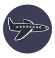 flat cartoon plane icon airplane symbol vector image