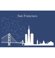San Francisco city skyline on blue background vector image