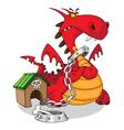 dangerous dragon vector image