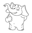 elephant character he raised a finger like vector image
