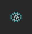 Letter N logo mockup monogram thin line design vector image