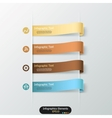 Modern infographics options banner vector image