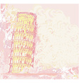 vintage pisa tower background vector image