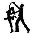 High quality pair dancing isolated on white vector image