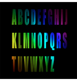 colorful alphabet number vector image vector image