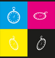 stopwatch sign   white icon vector image