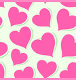pink hearts on bright background vector image