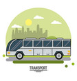 colorful poster of transport with bus on vector image vector image