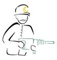 Mine worker vector image