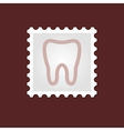 Tooth medical stamp vector image