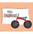 Baby shower and happy childhood vector image
