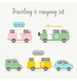transport caravan set Types of trailers vector image