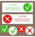 Banners with check mark stickers vector image vector image