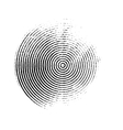 Black grunge circle of the rings vector image
