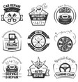 car service logos vintage labels badges vector image