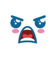kawaii face icon vector image