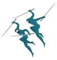 ninja with swords vector image