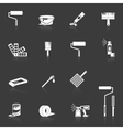 Painting icons white vector image