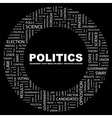 POLITICS vector image