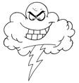 Rain cloud cartoon vector image