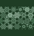 retro green different seamless patterns tiling vector image