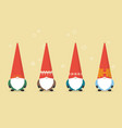 set of little santa claus vector image