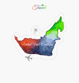 Travel around the world United Arab Emirates vector image