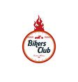 vintage motorcycle badge theme vector image