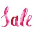 Watercolor Sale Calligraphy Script vector image