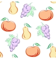 seamless pattern with fruits in hand drawn style - vector image